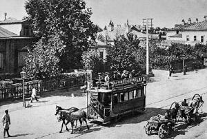 В Москве началось строительство первой в городе конно-железной дороги