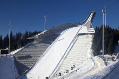 Прошли первые соревнования на лыжном трамплине Холменколлен в Осло