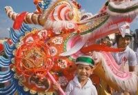 Фестиваль драконов в честь дня рождения Морского Бога