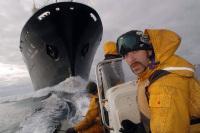 Акция Гринпис: «Не дать проплыть китобойному судну»