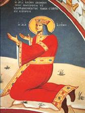 Святая Елена, фреска монастыря Ставровуни