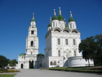 Астрахань. Успенский собор и колокольня Пречистенских ворот