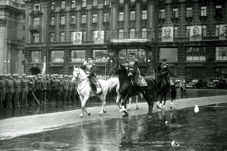 парад, Москва, 1945