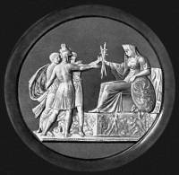 """Медальон """"Народное ополчение 1812 года"""""""