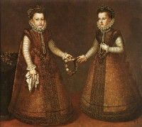 «Инфанты Изабелла Клара Евгения и Каталина Микаэла», Алонсо Санчес Коэльо, 1571