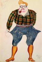 """Эскиз костюма """"Евграф — искатель приключений"""" (1926)"""