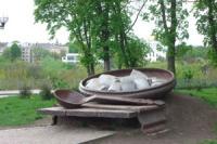Памятник галушке в Полтаве