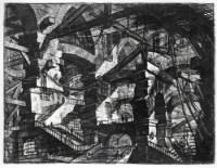 """Готическая арка из серии гравюр """"Фантазии на темы тюрем"""""""