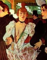 Тулуз-Лотрек. «Ла Гулю с подругами входит в Мулен-Руж»  (1892)