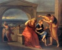 Плиний Младший и его мать в Мизене в 79 году (Холст, масло, 1785. Музей искусств Принстонского университета)