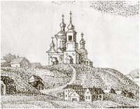 Череповец, литография 19 века