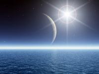 Скоро узкий серп новорожденного месяца выйдет из тени Земли