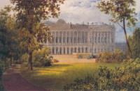Михайловский сад. Акварель В.С. Садовникова (после 1848)