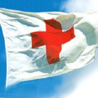 Красный крест на белом фоне - отличительный знак медицинских учреждений и персонала, занимающихся уходом за больными и ранеными