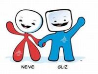 Талисманы XX зимних Игр - снежок «Неве» и кусочек льда «Глиз»