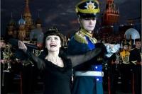Постоянная участница фестиваля французская певица Мирей Матье (Фото: kremlin-military-tattoo.ru)