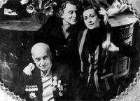 Михаил Чиаурели с женой и дочерью