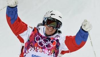 Александр Смышляев показал третий результат в суперфинале могула и стал обладателем олимпийской бронзы (Фото: РИА Новости)