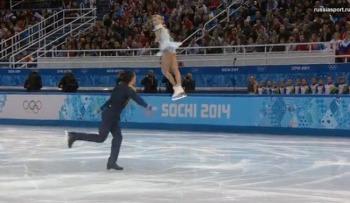 Максим подбрасывает Татьяну на высоту 3,5 м! (Фото: sochi2014.com)