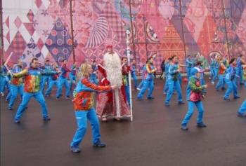 Флешмоб в Олимпийском парке (Фото: sochi2014.com)
