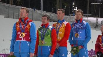 Олимпийские чемпионы в эстафете! (Фото: sochi2014.com)