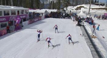 Финиш российских лыжников (Фото: sochi2014.com)