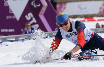 Михалина Лысова - Паралимпийская чемпионка по биатлону среди слабовидящих женщин (Фото:photo-sochi2014.rsport.ru)