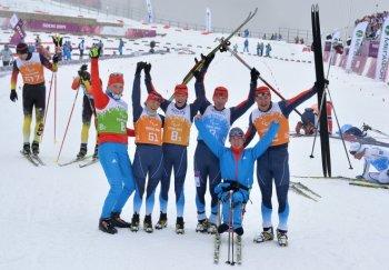 Чемпионы в лыжной эстафете 4*2,5 км (Фото: РИА Новости)