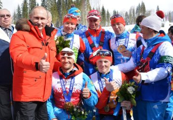 Президент России В.В. Путин поздравляет паралимпийцев с победой! (Фото: РИА Новости)