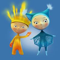Лучик и Снежинка - талисманы зимних Паралимпийских игр в Сочи