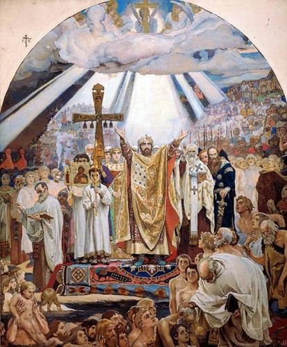 Картина Виктора Васнецова «Крещение Руси»