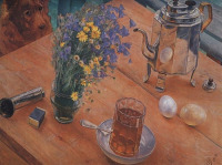 Картина Петрова-Водкина «Утренний натюрморт» (1918)