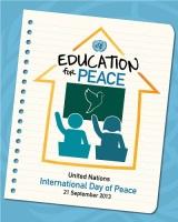Плакат Дня 2013 года - «Образование в духе мира»