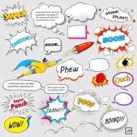 Комиксы — рисунки с краткими подписями (Фото: Vectomart, Shutterstock)