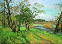 Картина Николая Глущенко «Киевская осень» (1950)
