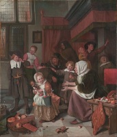 День святого Николая. Картина голландского художника Яна Стена, ок.1665-1668 гг.