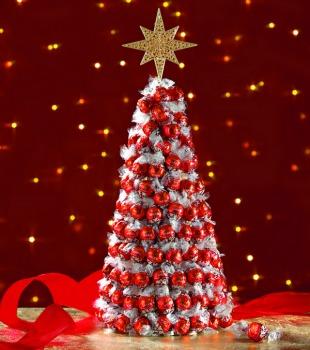 LINDOR в форме новогодней елочки