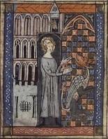 Святой Аманд на манускрипте 14 века