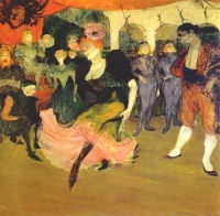 Марселла Лендер танцующая болеро в кабаре Шильперик, 1895