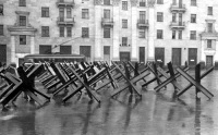 Противотанковые ежи конструкции Гориккера в Москве, осень-зима 1941 года (Фото: wikipedia.org)