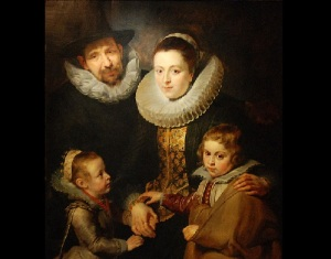 Семья Яна Брейгеля, портрет работы Рубенса