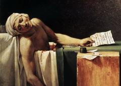 """Фрагмент картины """"Смерть Марата"""" Жана Луи Давида"""