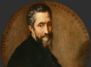 Микеланджело Буонарроти, фрагмент автопортрета