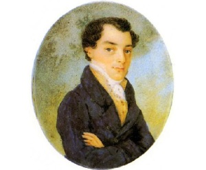 Кондратий Фёдорович Рылеев (Миниатюра неизвестного художника, первая половина 19 века, )
