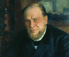 Портрет Анатолия Кони работы художника И.Репина (фрагмент)
