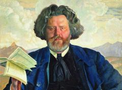 Максимилиан Волошин (Портрет работы Б.Кустодиева, фрагмент)