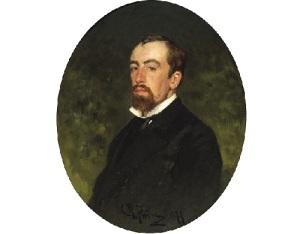 Василий Поленов (Портрет работы И.Репина, 1877, фрагмент)