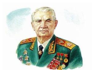 Командующий армией Чуйков перед офицерами и солдатами накануне форсирования реки Висла
