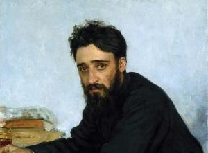Портрет Гаршина кисти И.Репина (фрагмент картины, 1884 год)