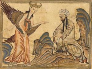 Средневековый рисунок с Пророком Мухаммедом